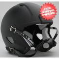 Helmets, Blank Mini Helmets: Mini Speed Football Helmet SHELL Matte Black