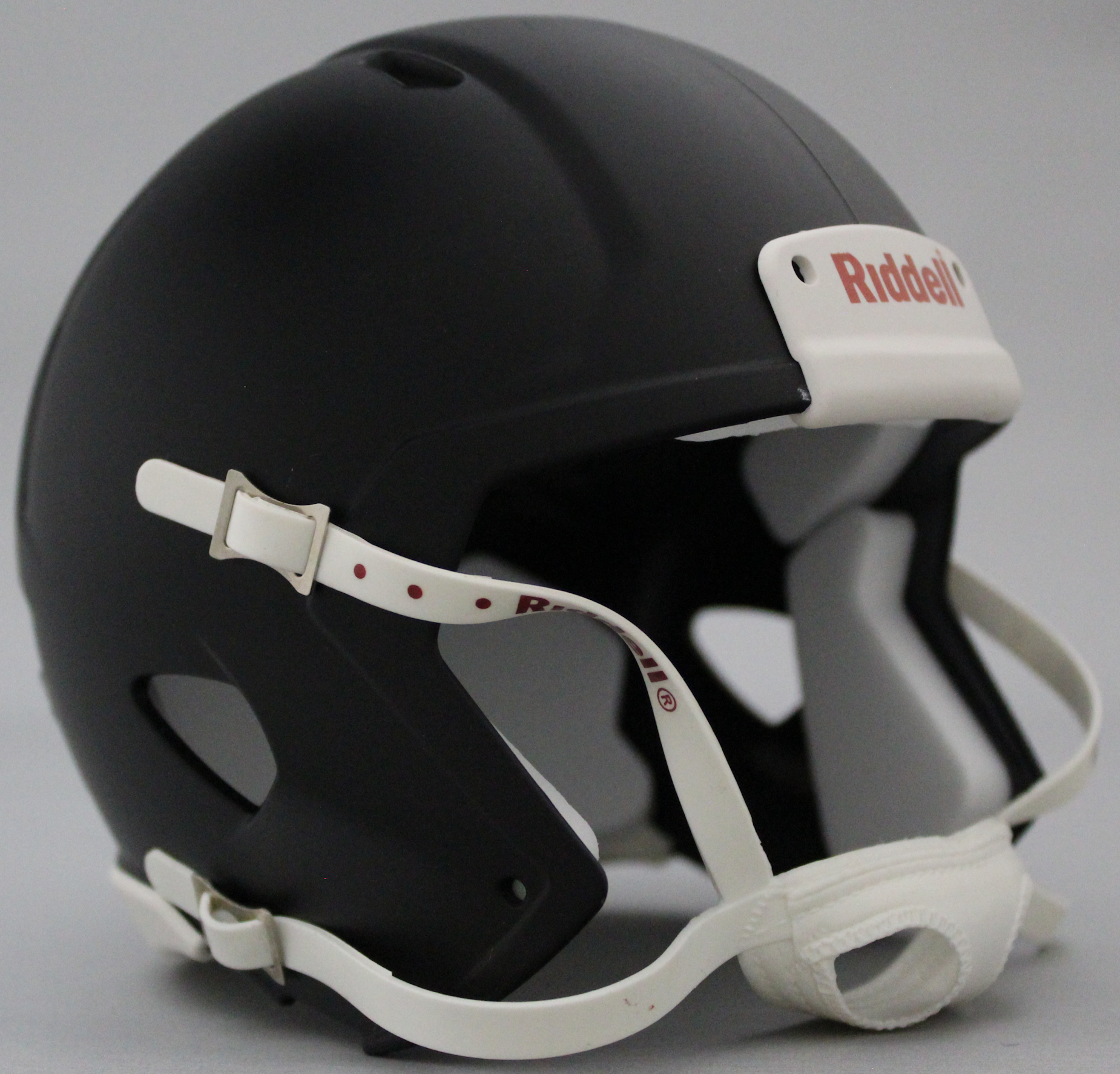 Mini Speed Football Helmet SHELL Matte Black/White Parts