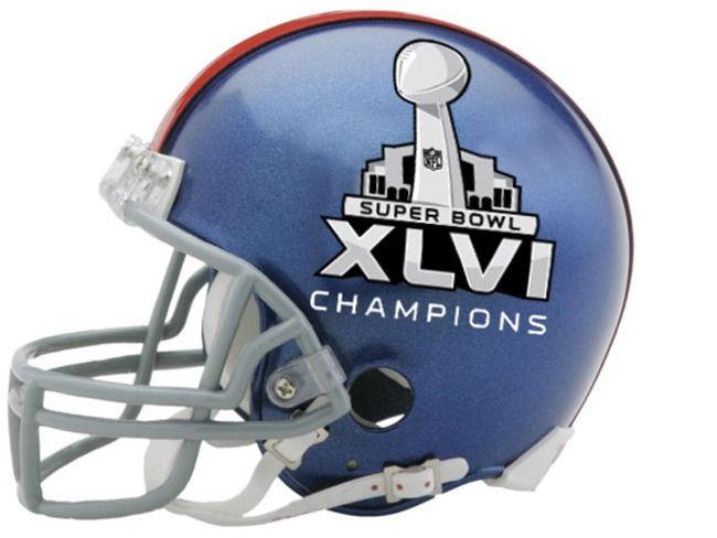 New York Giants NFL Mini Football Helmet Super Bowl 46 XLVI Champions