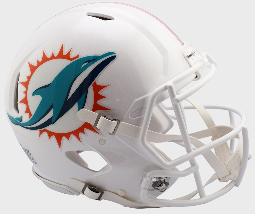 Miami Dolphins Speed Football Helmet <B>NEW 2018</B>