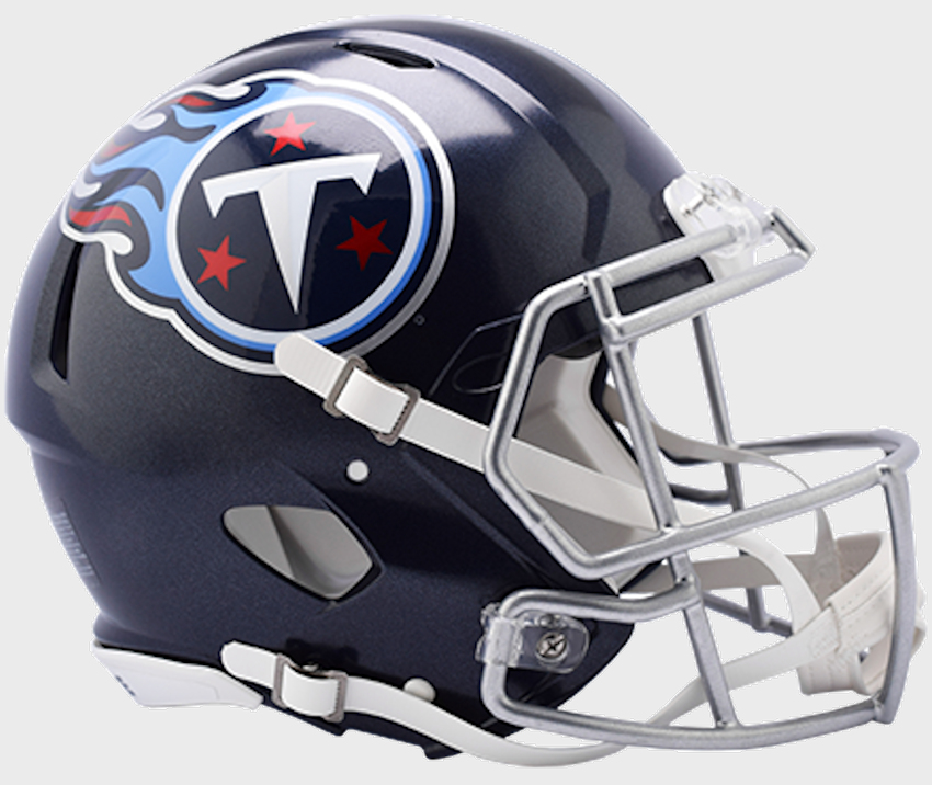 Tennessee Titans Speed Football Helmet <B>NEW 2018 Satin Navy Metallic</B>