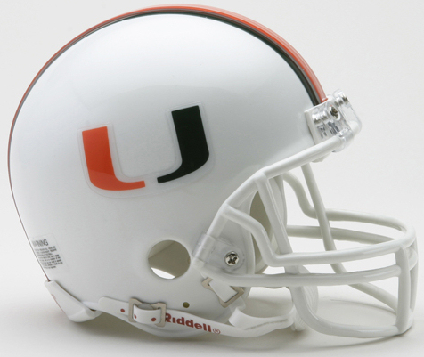 Miami Hurricanes NCAA Mini Football Helmet