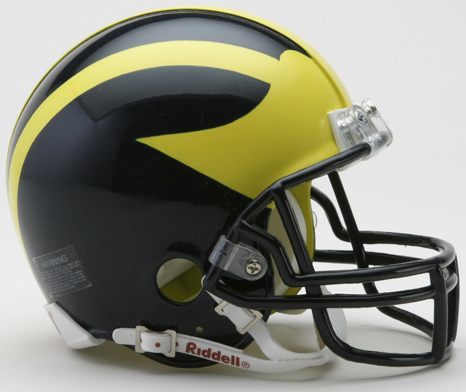 Michigan Wolverines NCAA Mini Football Helmet