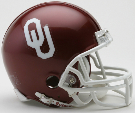 Oklahoma Sooners NCAA Mini Football Helmet