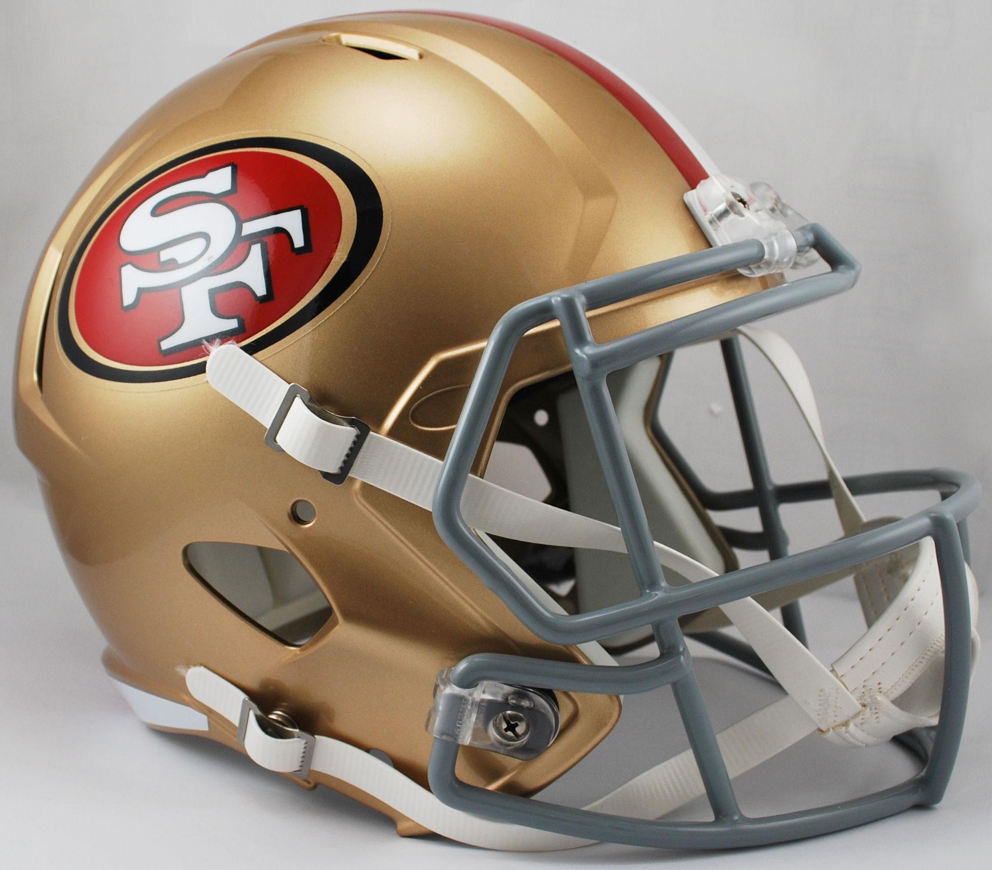 San Francisco 49ers Speed Replica Football Helmet