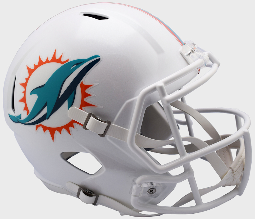 Miami Dolphins Speed Replica Football Helmet <B>NEW 2018</B>