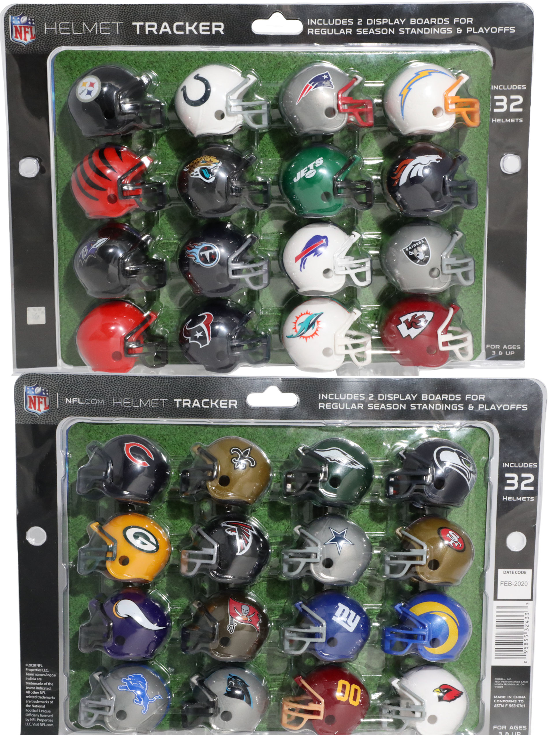 2020 NFL Helmet Tracker Set 32 Piece Set <B>NEW</B>