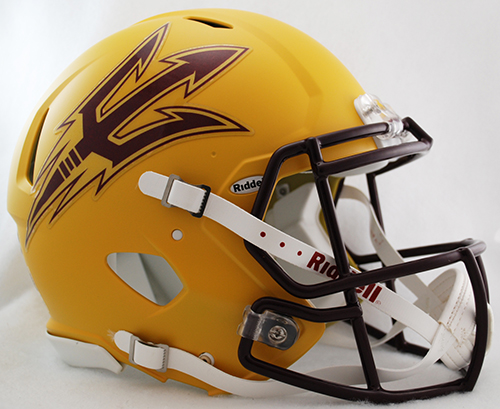 Arizona State Sun Devils Speed Football Helmet <B>Matte Gold</B>