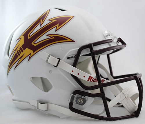 Arizona State Sun Devils Speed Football Helmet <B>White</B>