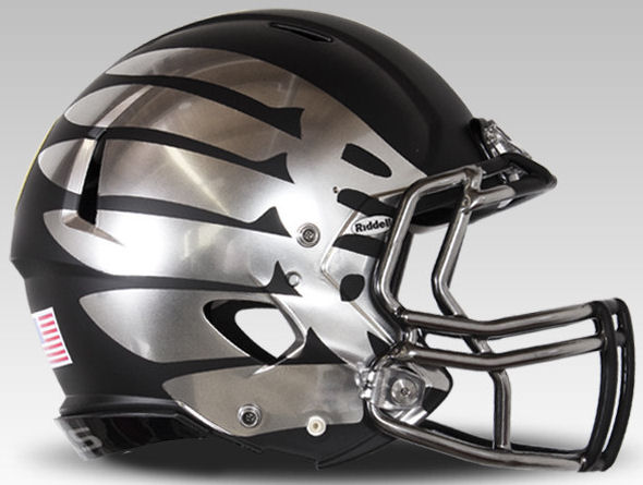 Oregon Ducks Speed Football Helmet <B>Black Eclipse Discontinued</B>
