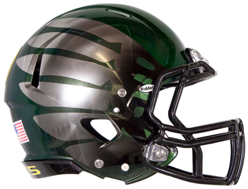 Oregon Ducks Speed Football Helmet <B>Titanium Thunder Discontinued</B>