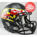 Helmets, Full Size Helmet: Maryland Terrapins Speed Football Helmet <B>Flag Black</B>