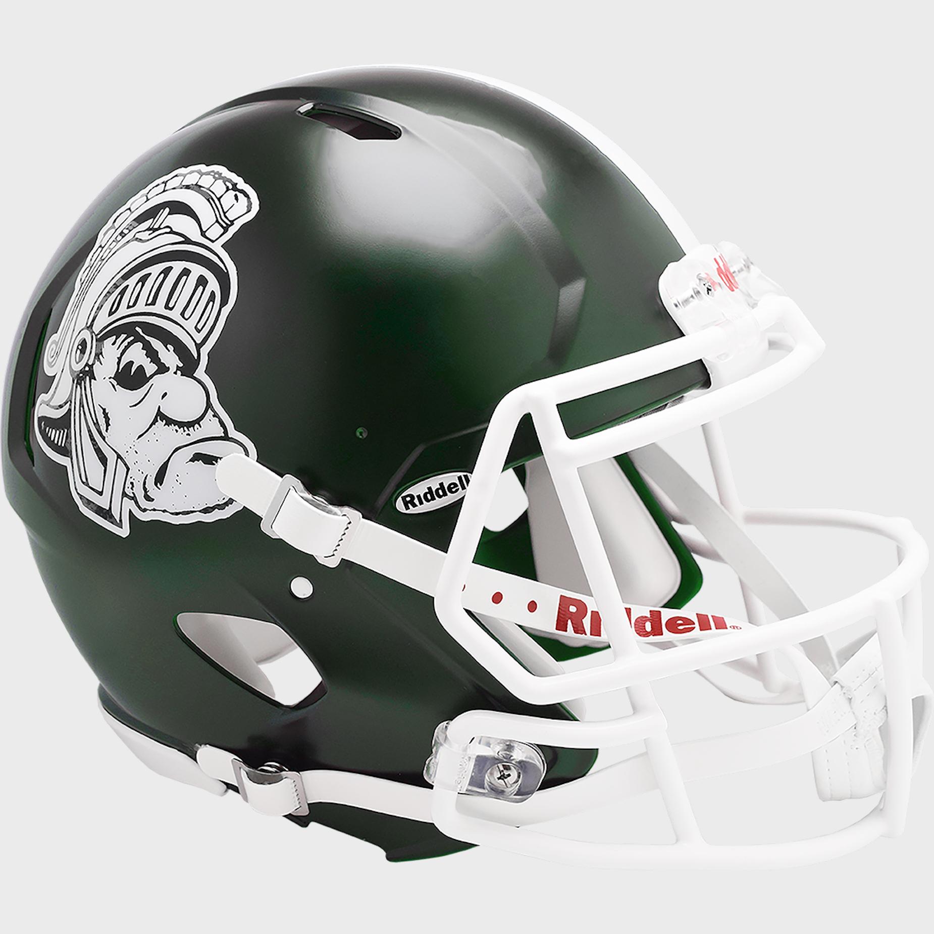 Michigan State Spartans Speed Football Helmet <B>Gruff Sparty</B>