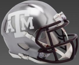 Texas A&M Aggies Speed Football Helmet <B>FLASH ESD 8/21/21</B>