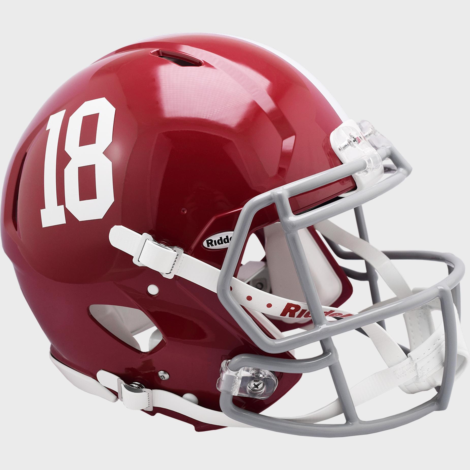 Alabama Crimson Tide Speed Football Helmet #18 <B>NEW 2021</B>