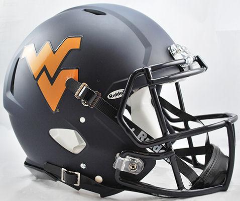 West Virginia Mountaineers Speed Football Helmet <B>Matte Navy</B>