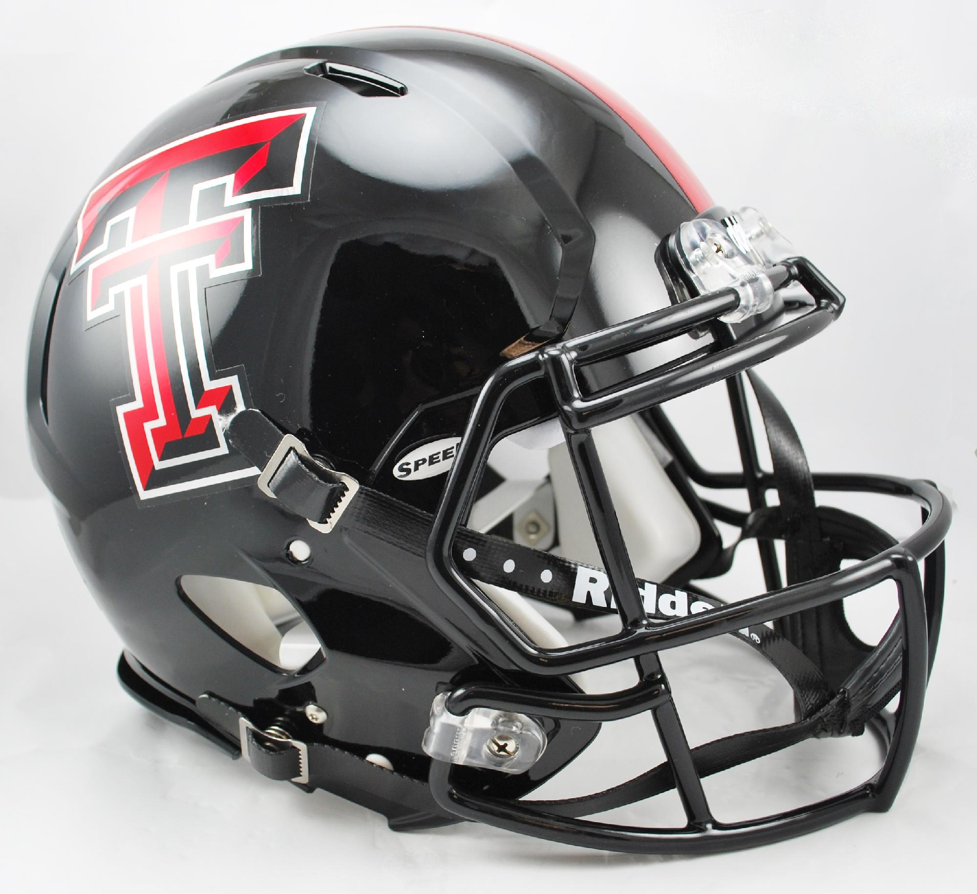 Texas Tech Red Raiders Speed Football Helmet <B>Chrome Decal</B>