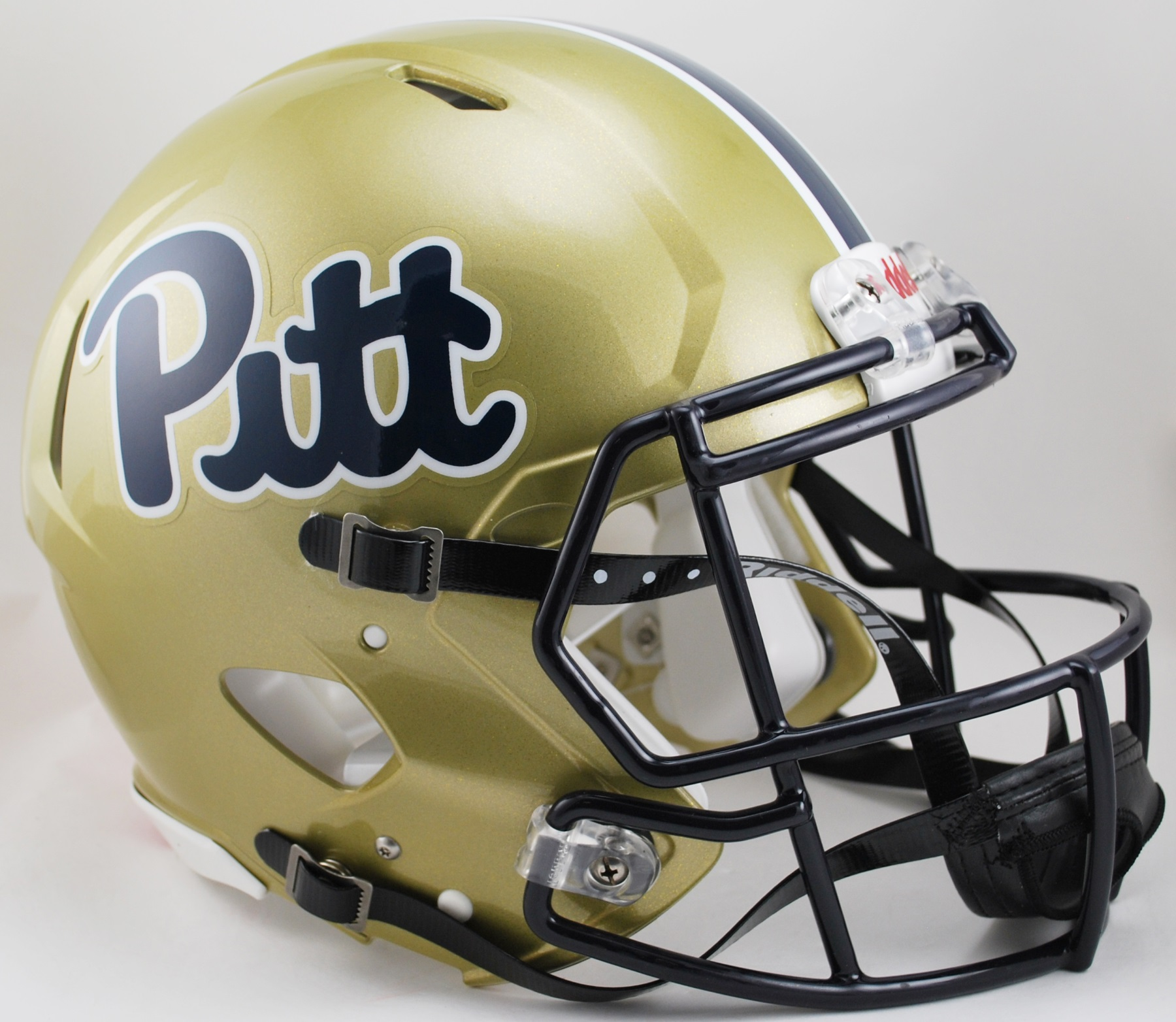 Pittsburgh Panthers Speed Football Helmet <B>Pitt Script</B>