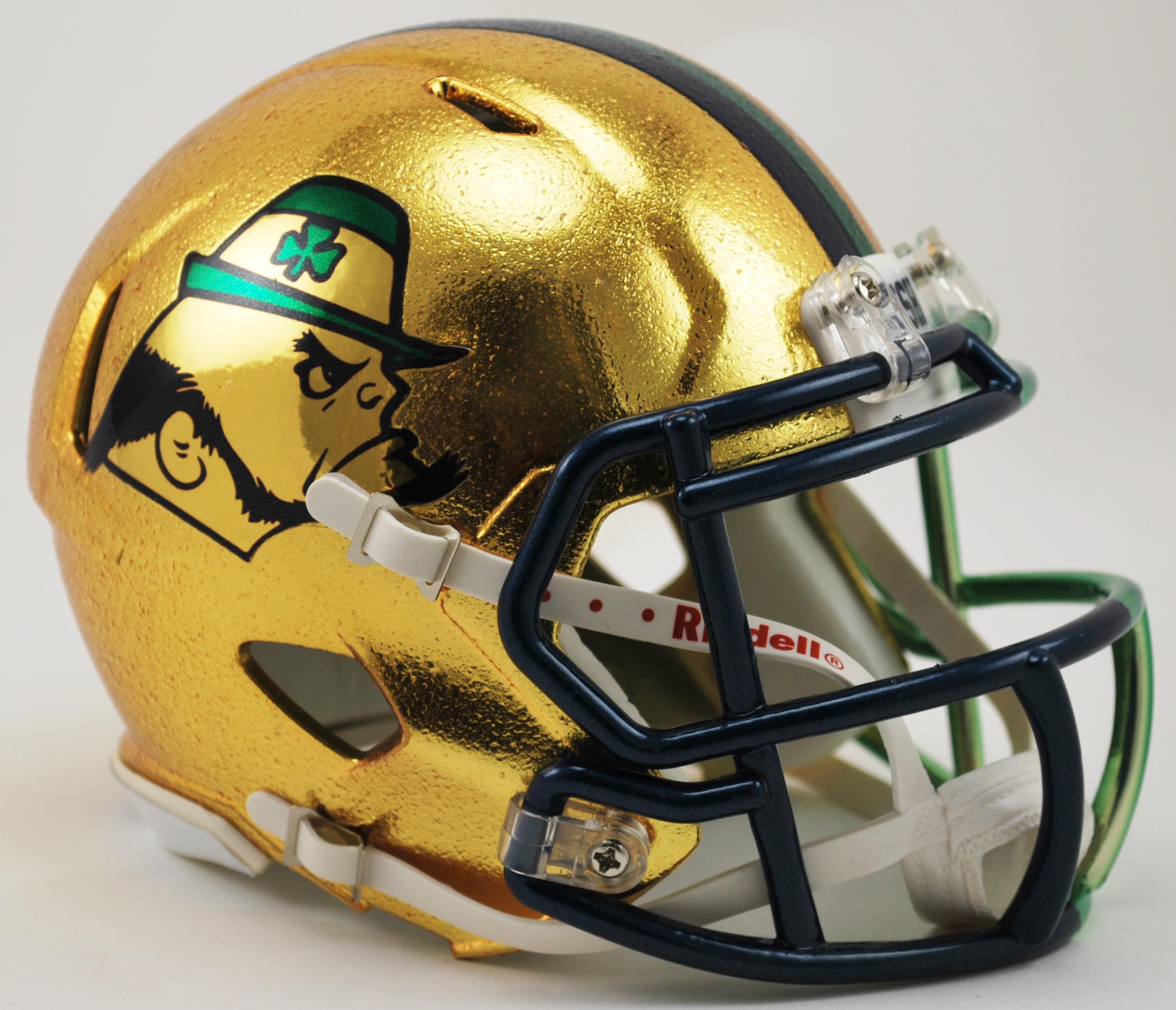 Notre Dame Fighting Irish Speed Football Helmet <B>HydroSkin Boston Limited SALE</B>