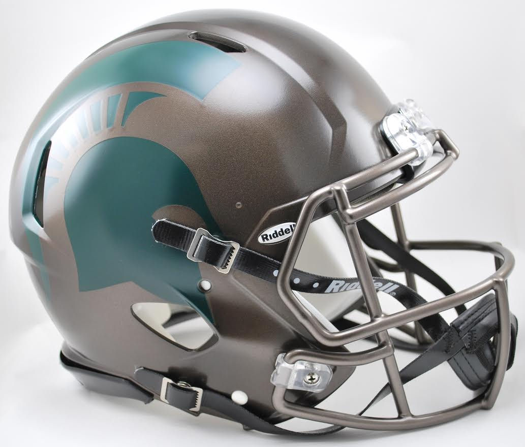 Michigan State Spartans Speed Football Helmet <B>Bronze</B>