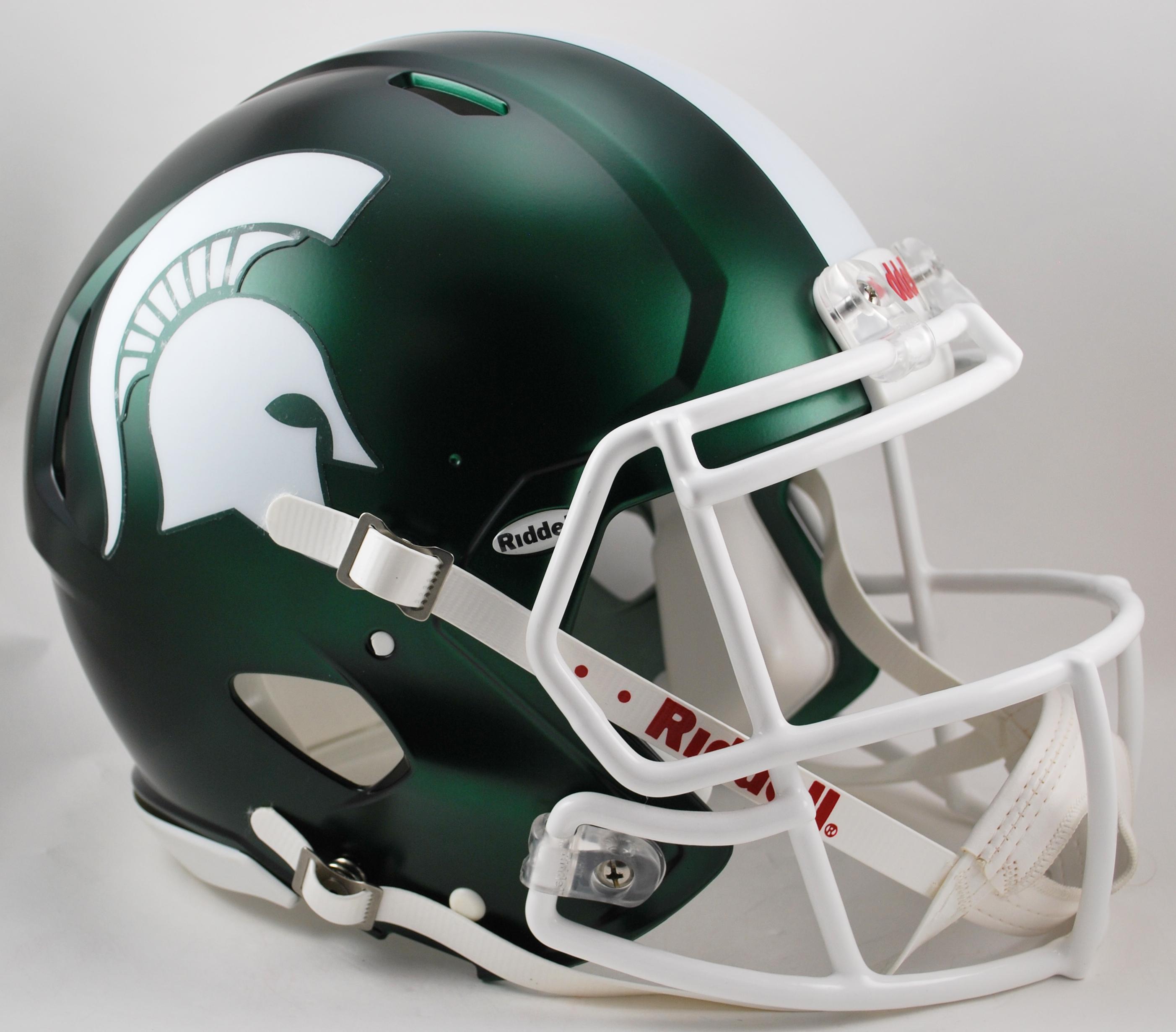 Michigan State Spartans Speed Football Helmet <B>Satin Green</B>