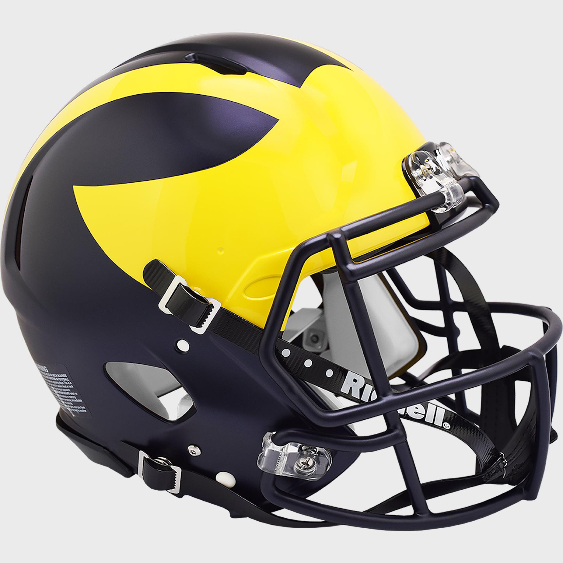 Michigan Wolverines Speed Football Helmet <B>2016 Painted Wings</B>