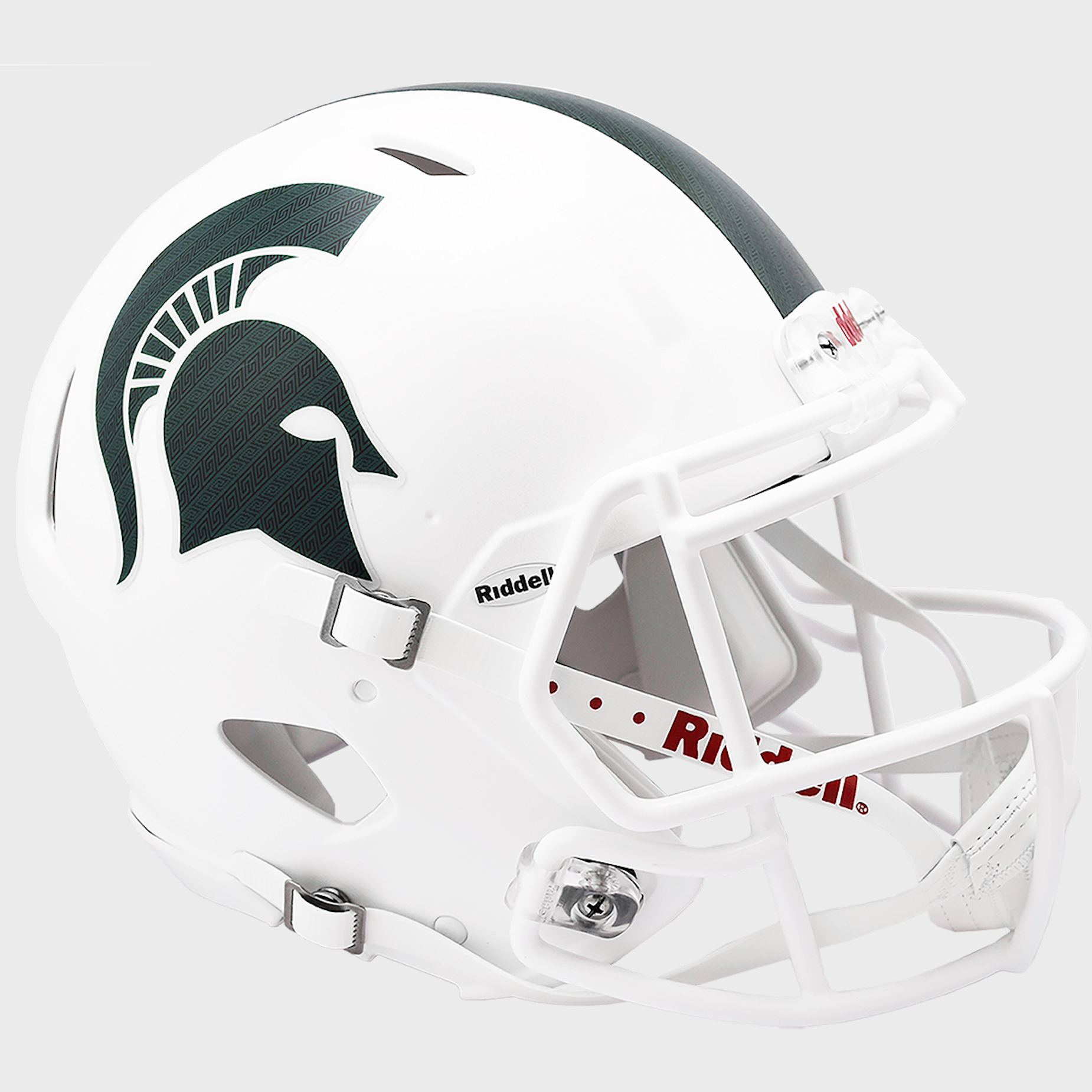 Michigan State Spartans Speed Football Helmet <B>Metallic Matte White 2017</B>