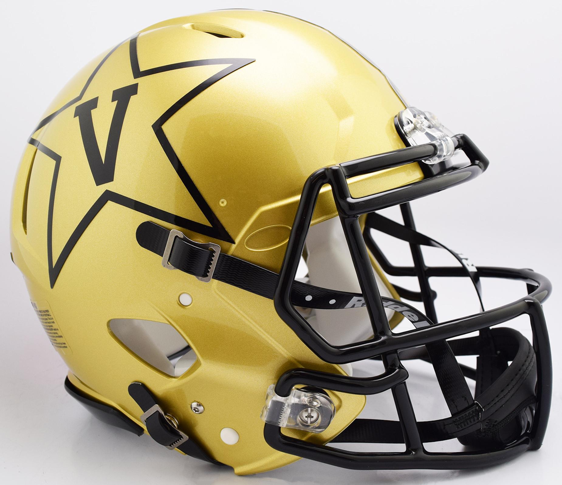 Vanderbilt Commodores Speed Football Helmet <B>GOLD NEW 2018</B>