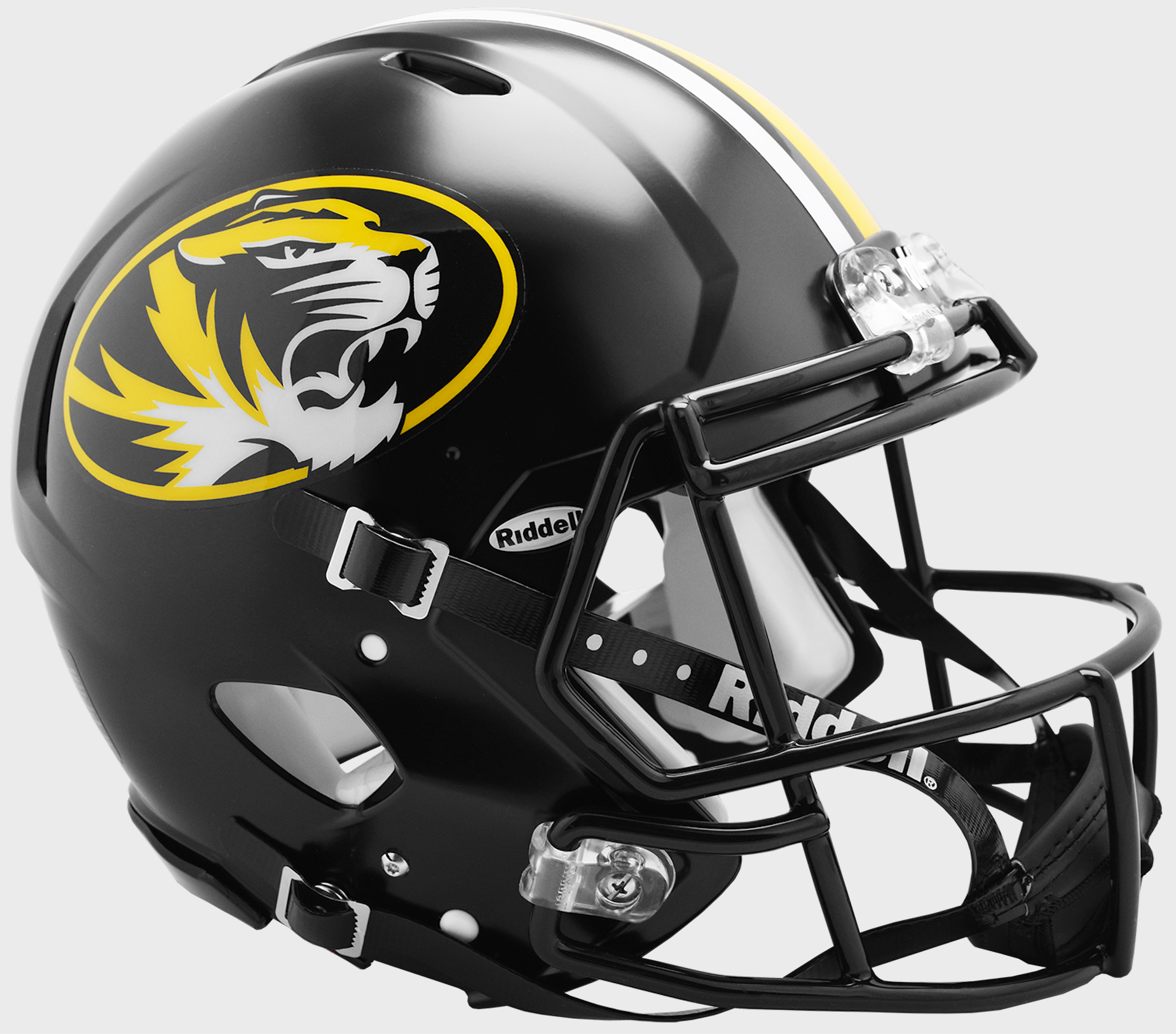 Missouri Tigers Speed Football Helmet <B>Anodized Black</B>