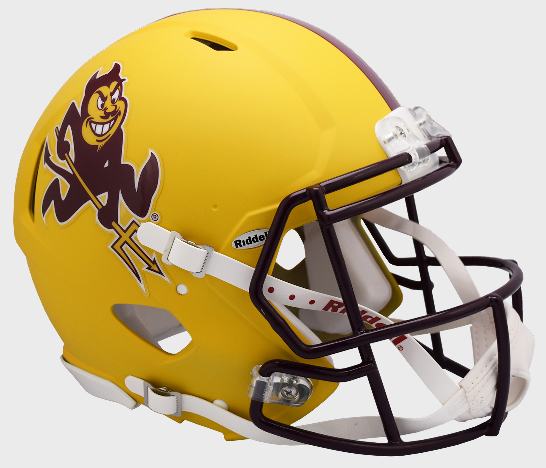 Arizona State Sun Devils Speed Football Helmet <B>Flat Yellow Sparky</B>