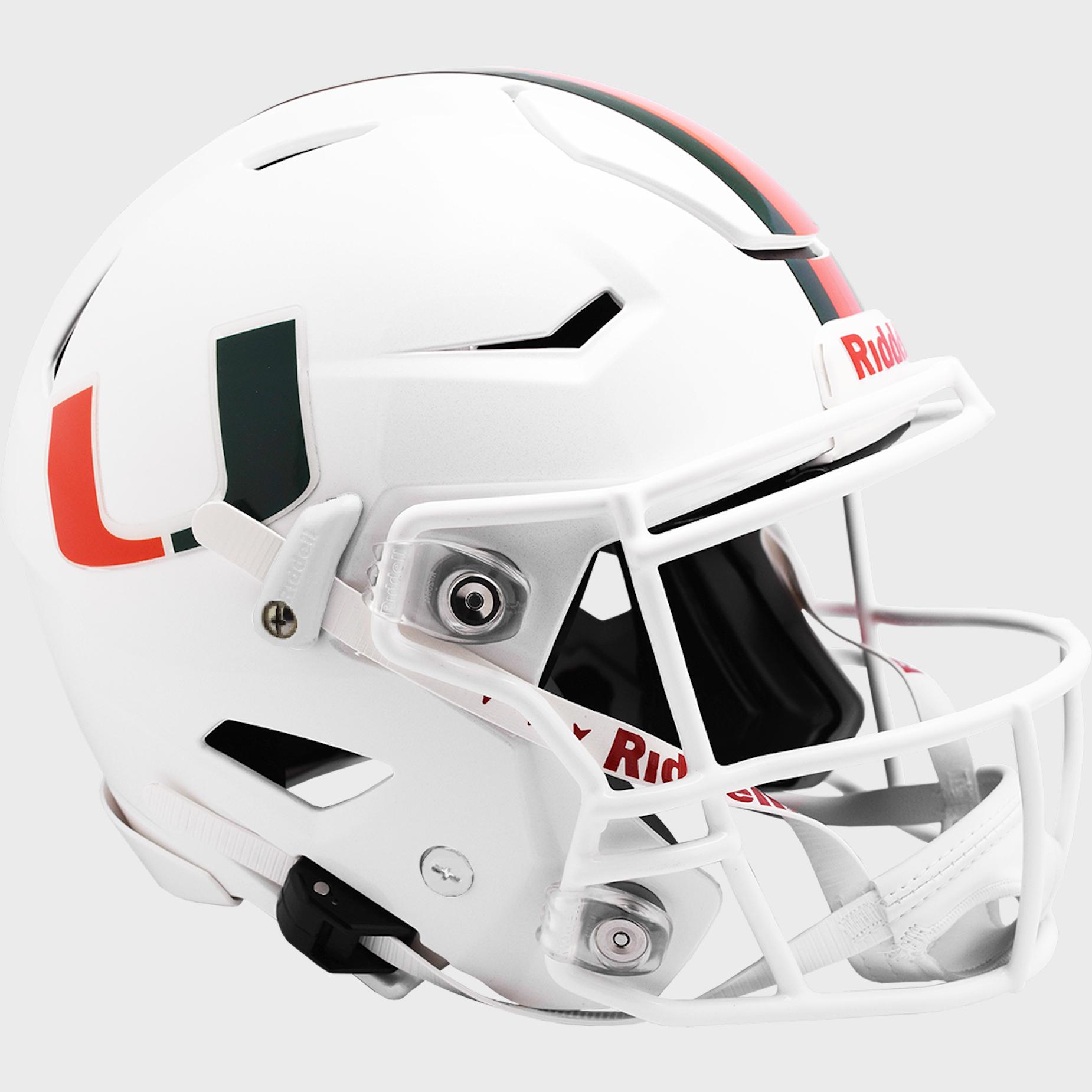 Miami Hurricanes SpeedFlex Football Helmet