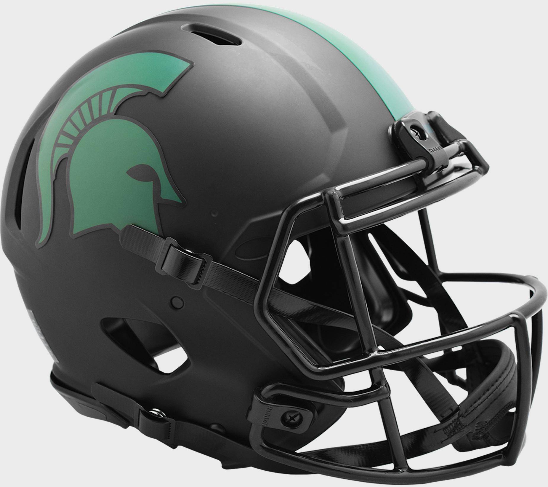 Michigan State Spartans Speed Football Helmet <B>ECLIPSE</B>