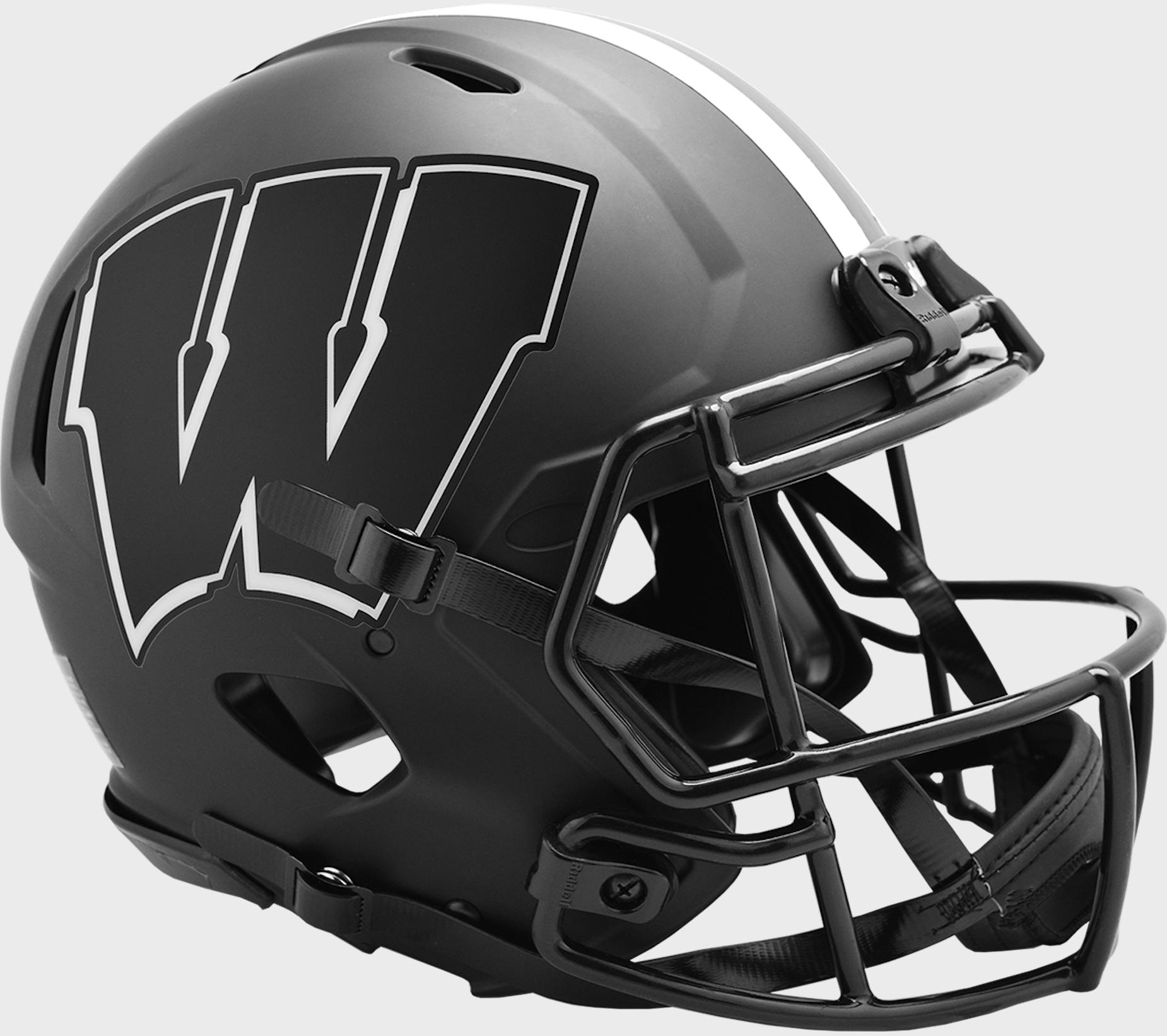 Wisconsin Badgers Speed Football Helmet <B>ECLIPSE</B>