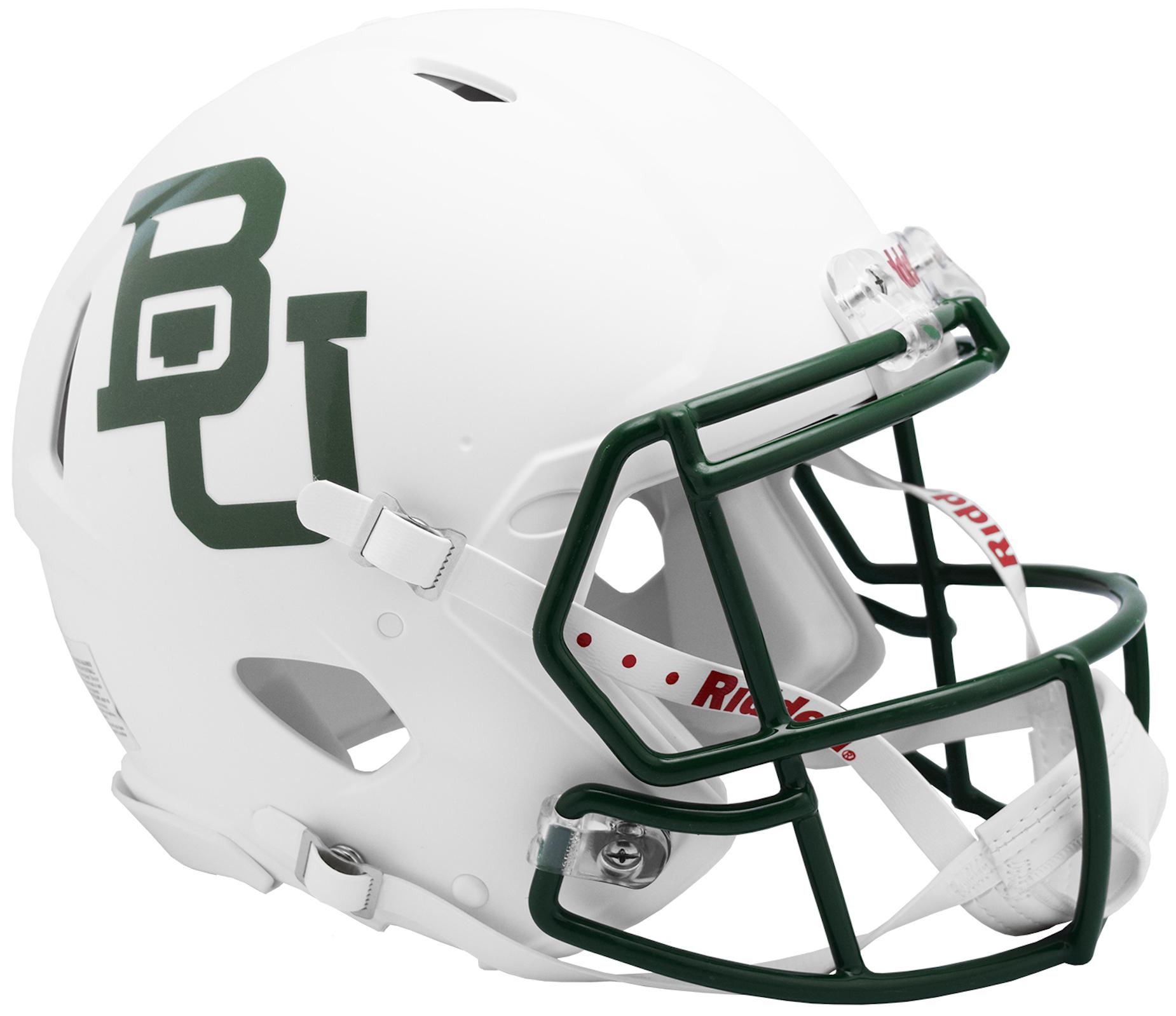 Baylor Bears Speed Football Helmet <B>White Metallic</B>