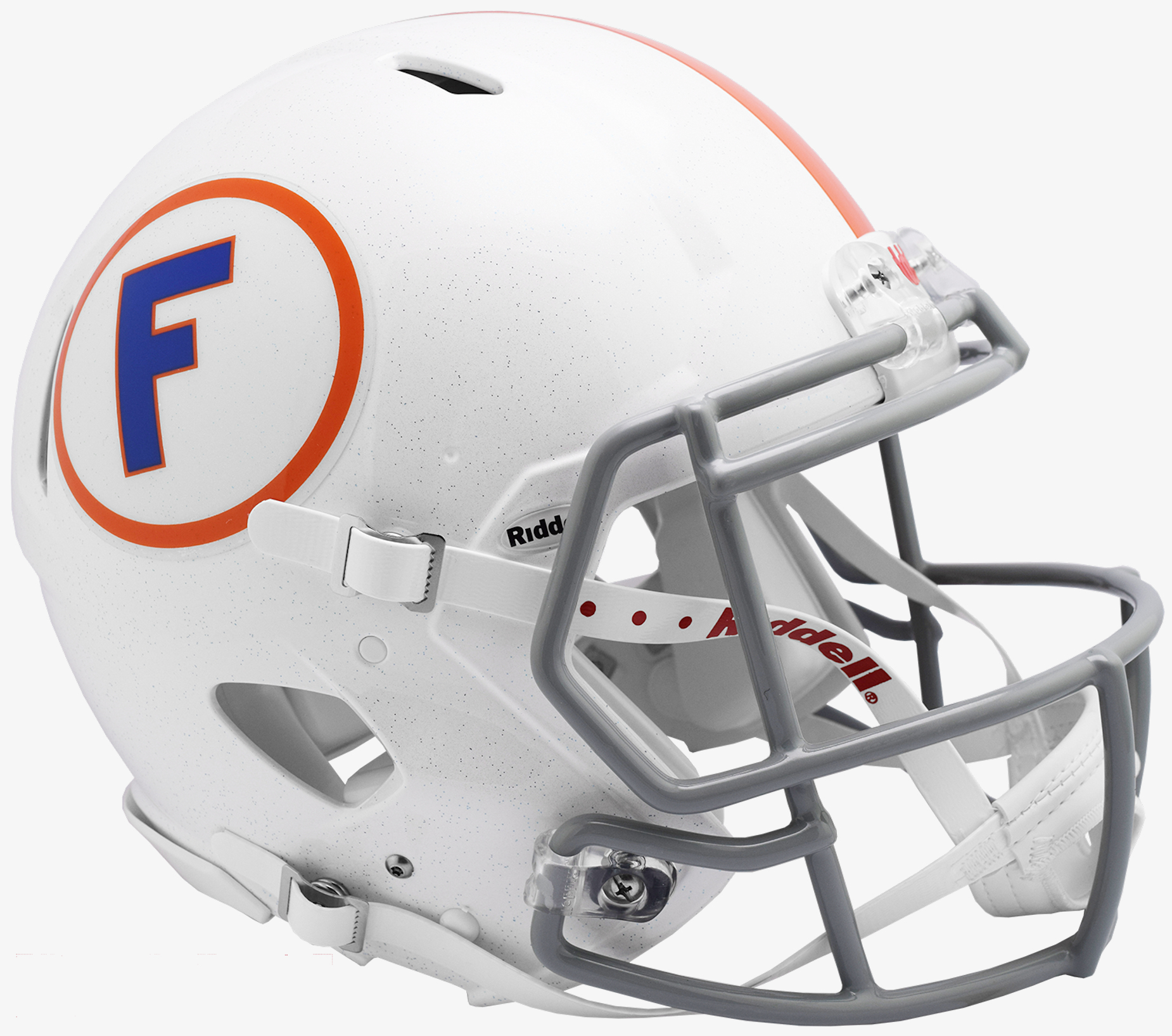 Florida Gators Speed Throwback Football Helmet <B>White w/Gray Mask</B>