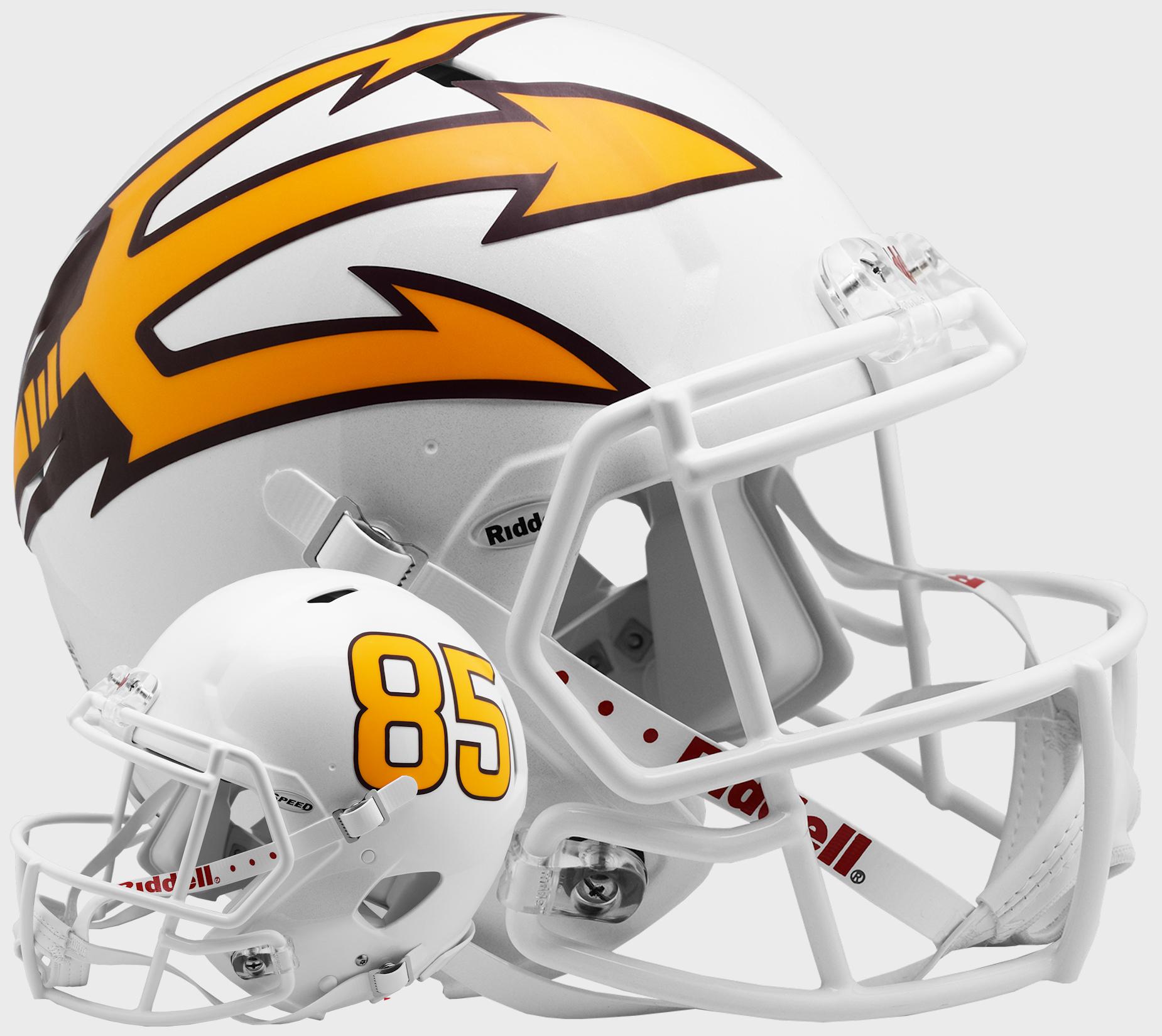 Arizona State Sun Devils Speed Football Helmet <B>White Metallic</B>