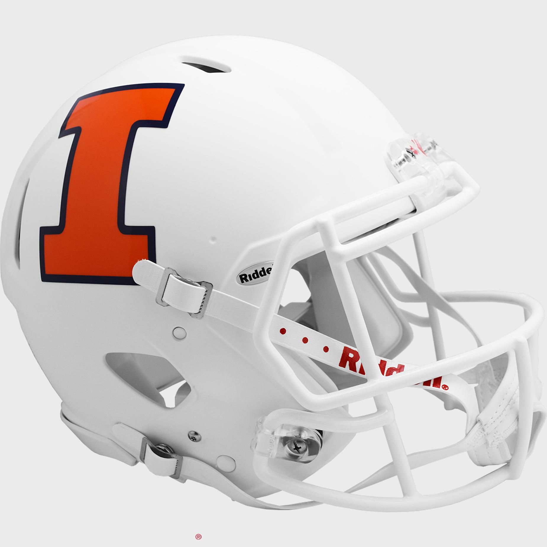 Illinois Fighting Illini Speed Football Helmet