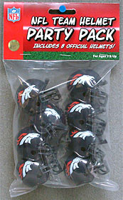 Denver Broncos Gumball Party Pack Helmets
