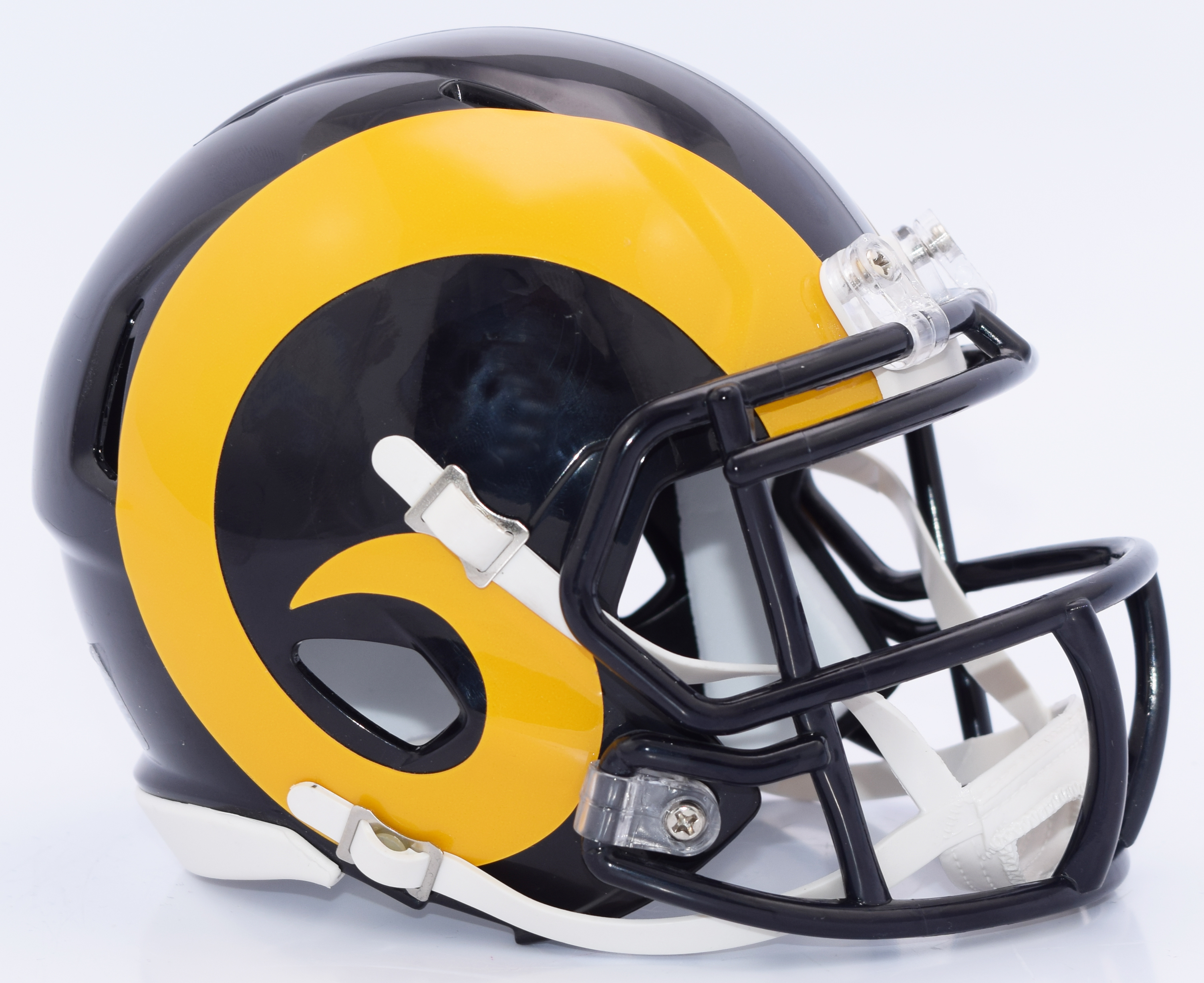 St. Louis Rams NFL Mini Speed Football Helmet <B>Yellow Horn</B>