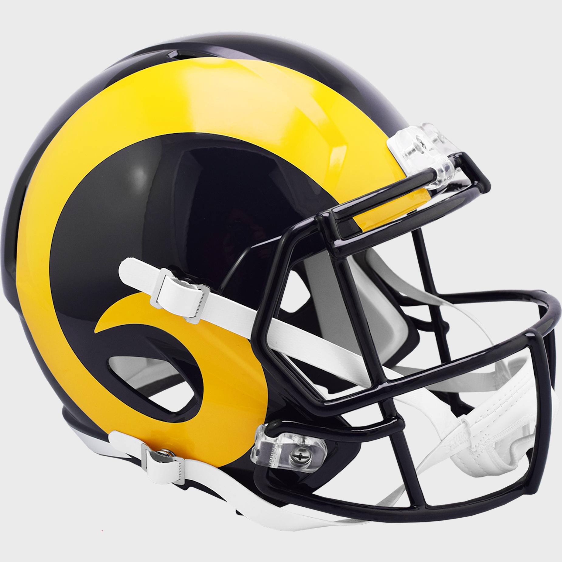St. Louis Rams 2000 to 2016 Speed Replica Throwback Helmet