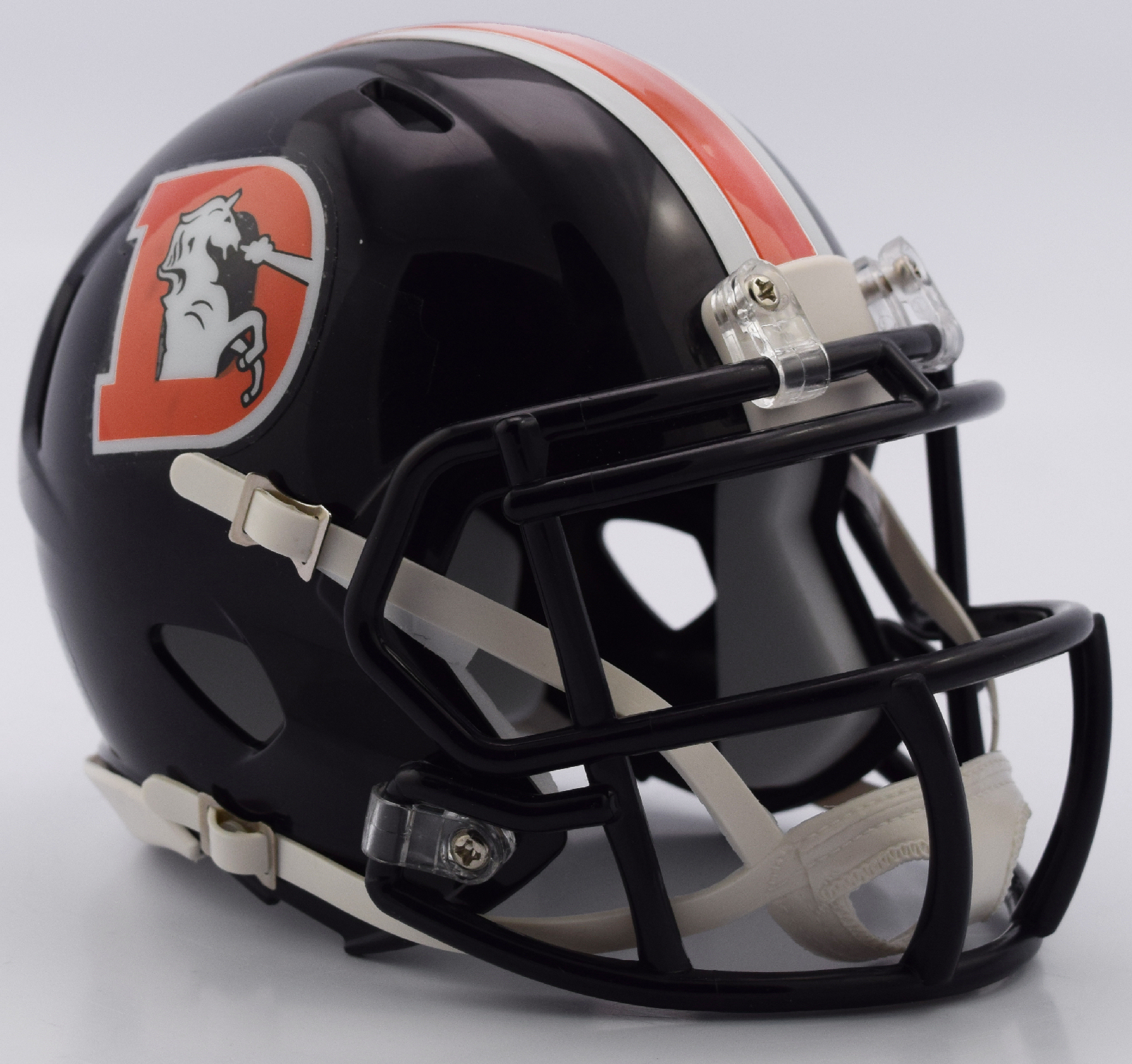 Denver Broncos NFL Mini Speed Football Helmet <B>2018 Color Rush </B>