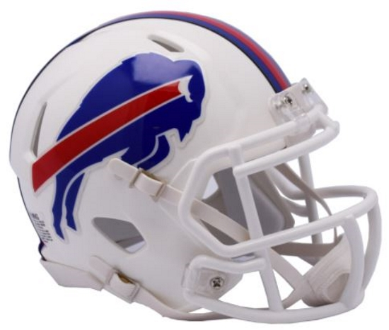 Buffalo Bills NFL Mini Speed Football Helmet <B>2017 Color Rush</B>