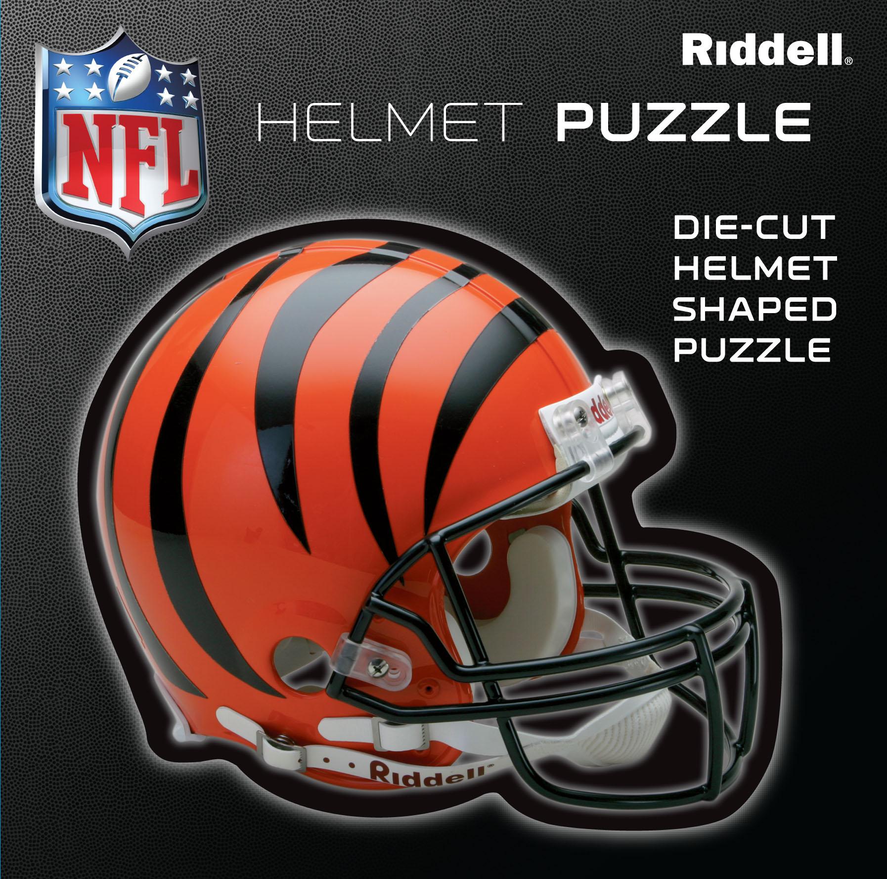 Cincinnati Bengals Helmet Puzzle 100 Pieces Riddell