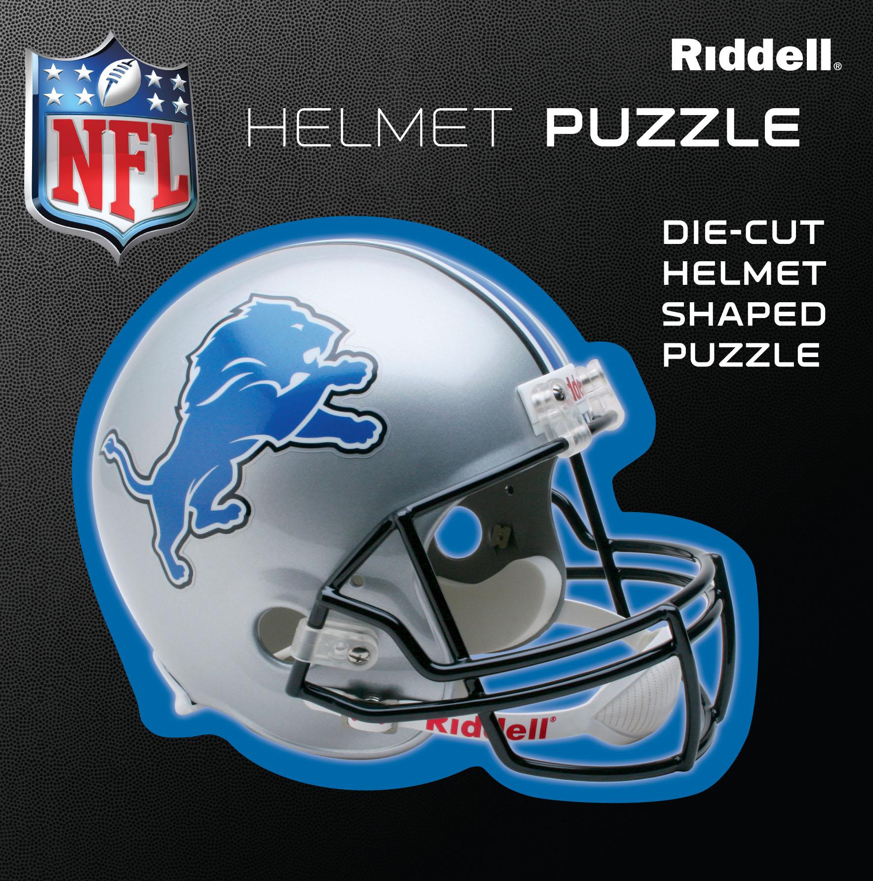 Detroit Lions Helmet Puzzle 100 Pieces Riddell