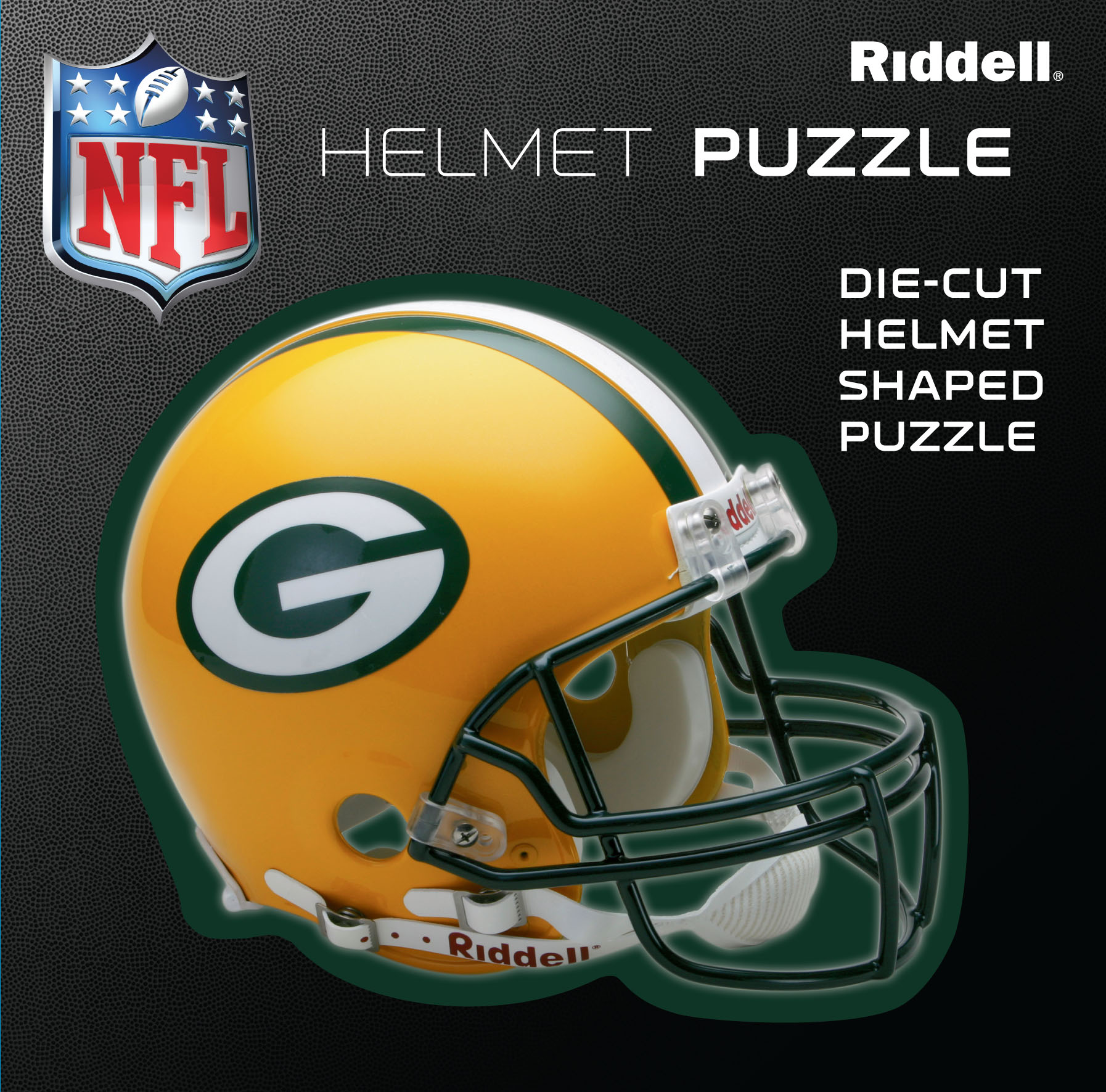 Green Bay Packers Helmet Puzzle 100 Pieces Riddell