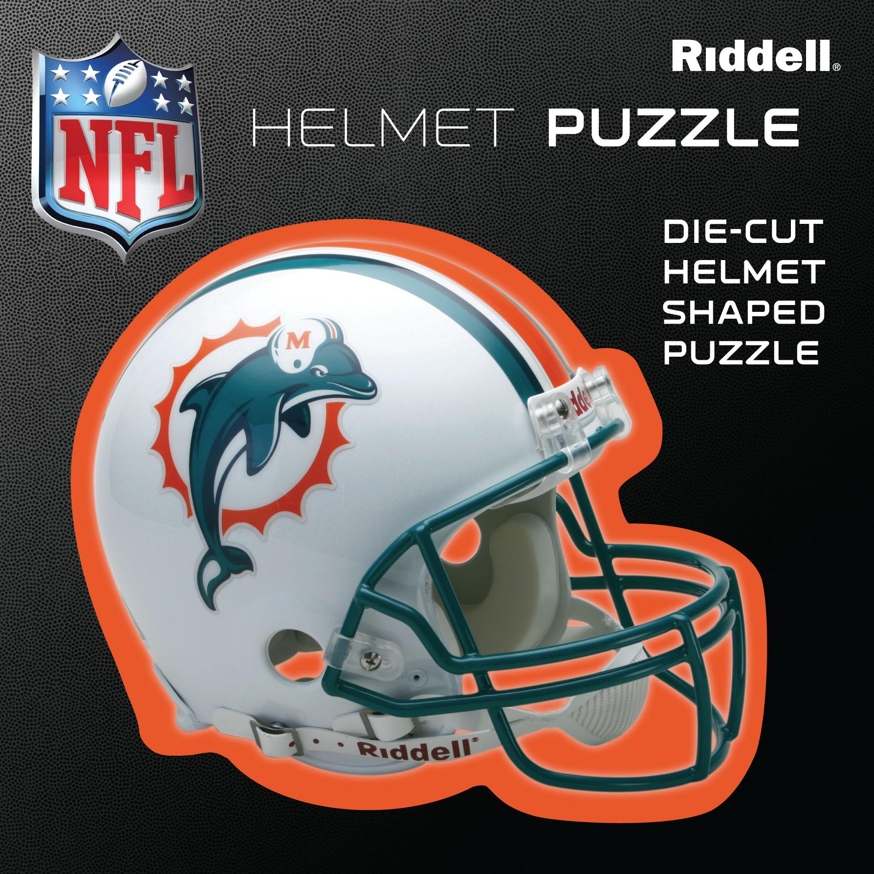 Miami Dolphins Helmet Puzzle 100 Pieces Riddell