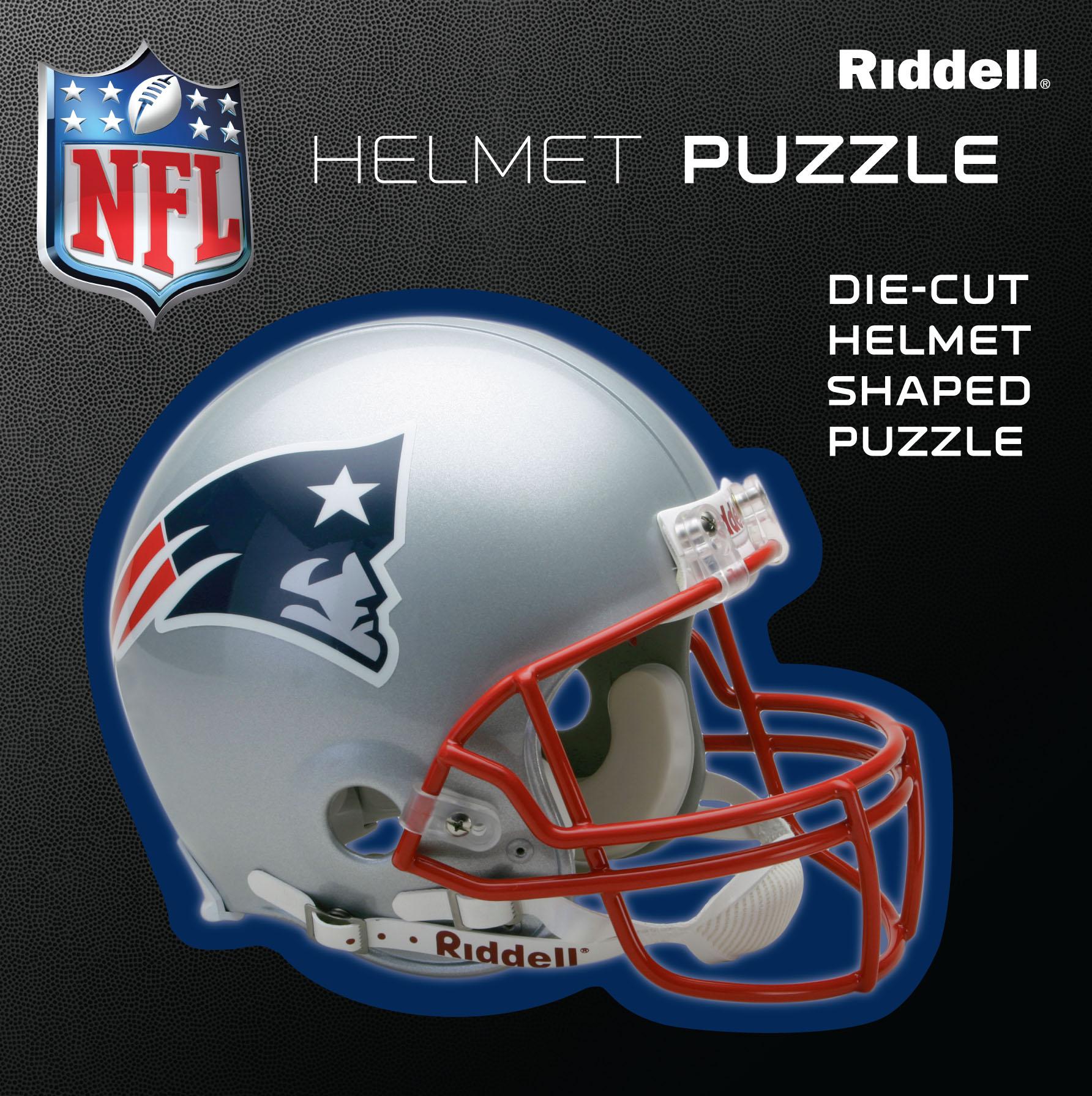 New England Patriots Helmet Puzzle 100 Pieces Riddell SALE