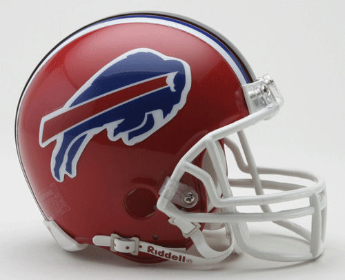 Buffalo Bills Riddell 2002 to 2010 Mini Replica Throwback Helmet <B>DISCONTINUED</B>