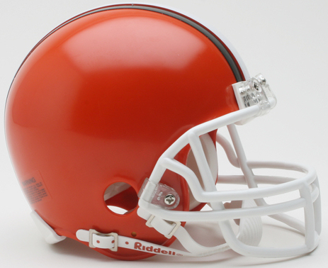 Cleveland Browns 1975 to 2005 Riddell Mini Replica Throwback Helmet