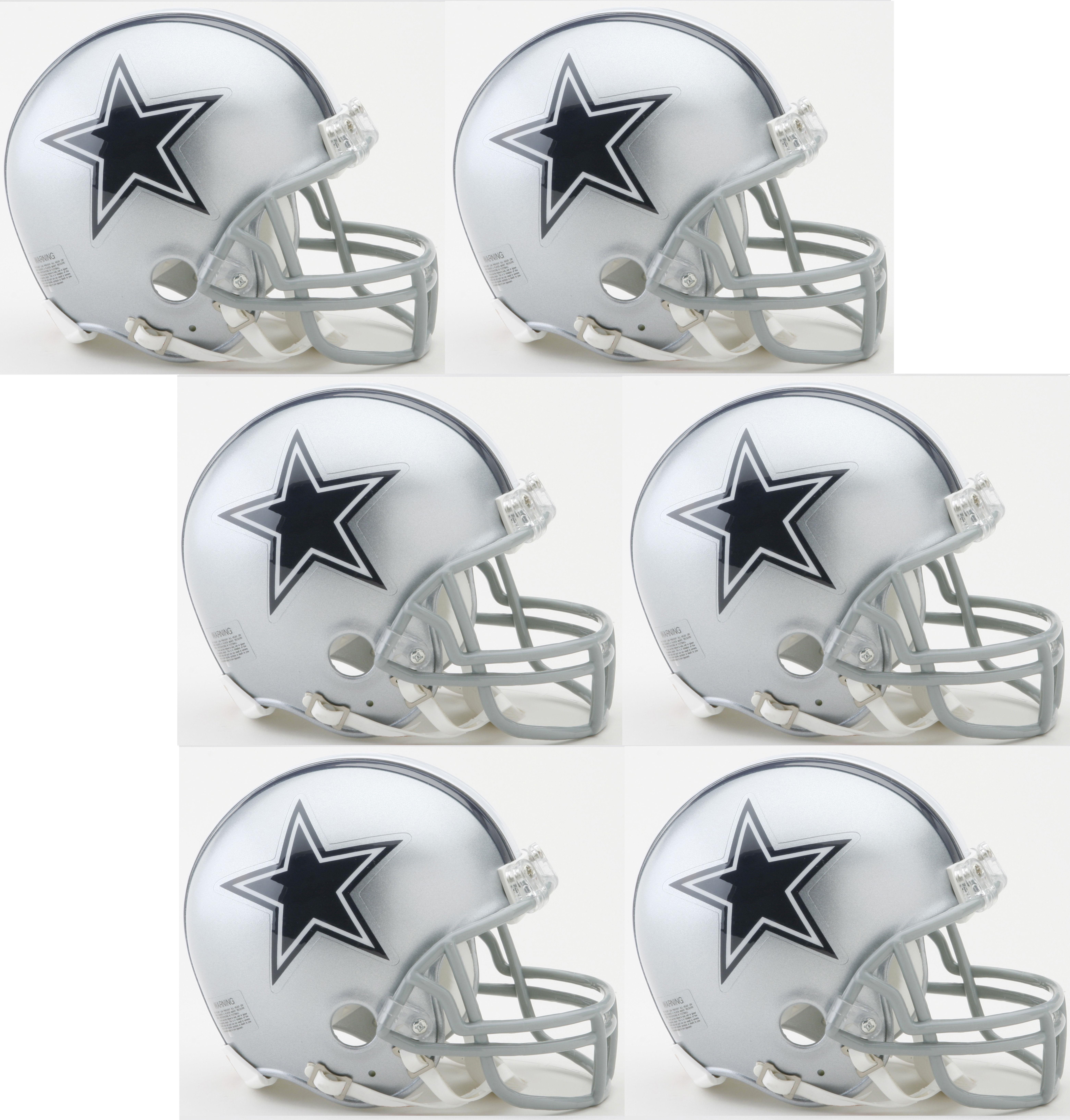 Dallas Cowboys NFL Mini Football Helmet 6 count